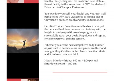 PR, NMV Strategies-Body Creations Fitness