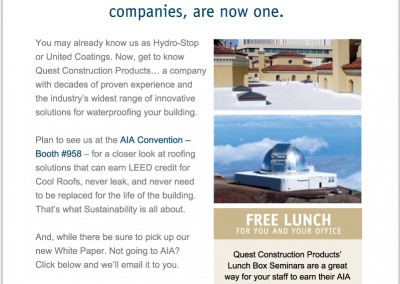 Quest Roof ing promo by NMV Strategies